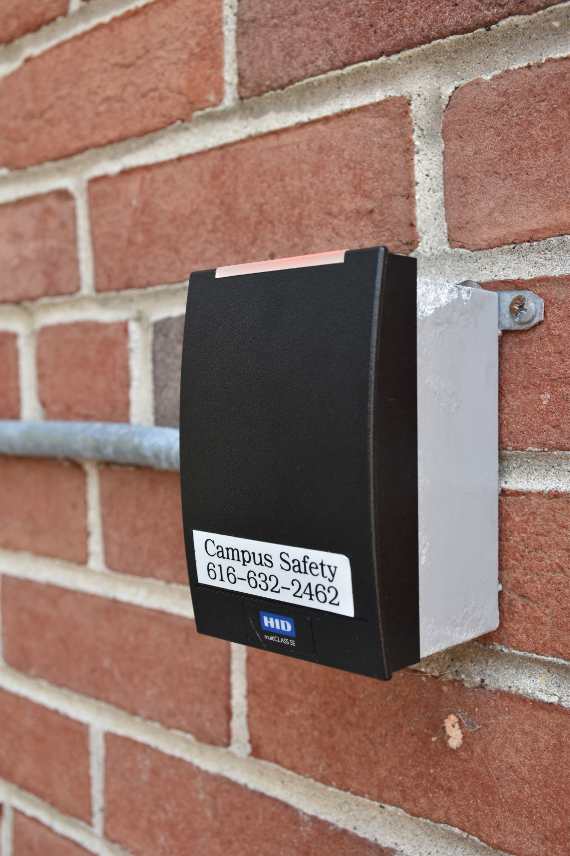 The ID scanner to get into the buildings with a red light